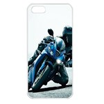 Vehicles Motorcycle Racer Apple iPhone 5 Seamless Case (White)