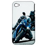Vehicles Motorcycle Racer Apple iPhone 4/4S Hardshell Case (PC+Silicone)