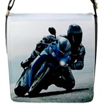 Vehicles Motorcycle Racer Flap closure messenger bag (Small)