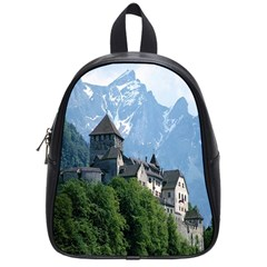 Vaduz Castle Liechtenstein School Bag (Small) from DesignYourOwnGift.com Front