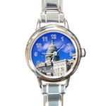 Usa White House Round Italian Charm Watch