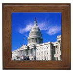 Usa White House Framed Tile