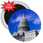 Usa White House 3  Magnet (10 pack)
