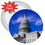Usa White House 3  Button (100 pack)