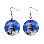 Usa White House 1  Button Earrings