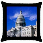 Usa White House Throw Pillow Case (Black)