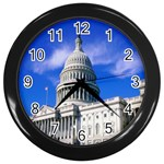 Usa White House Wall Clock (Black)