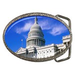 Usa White House Belt Buckle