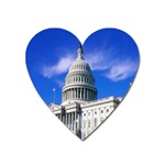 Usa White House Magnet (Heart)