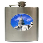 Usa White House Hip Flask (6 oz)