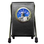 Usa White House Pen Holder Desk Clock
