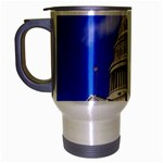 Usa White House Travel Mug (Silver Gray)