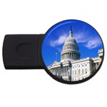 Usa White House USB Flash Drive Round (4 GB)