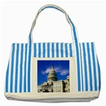 Usa White House Striped Blue Tote Bag