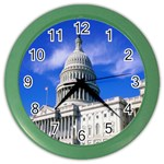 Usa White House Color Wall Clock