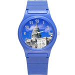 Usa White House Round Plastic Sport Watch Small