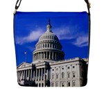 Usa White House Flap Closure Messenger Bag (Large)