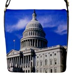 Usa White House Flap closure messenger bag (Small)