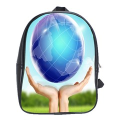 We Are Changing The World And Earth School Bag (XL) from DesignYourOwnGift.com Front