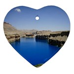 Water And Desert Band Eamir Afghanistan Ornament (Heart)