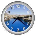 Water And Desert Band Eamir Afghanistan Wall Clock (Silver)