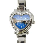 Water And Desert Band Eamir Afghanistan Heart Italian Charm Watch