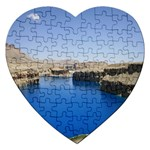 Water And Desert Band Eamir Afghanistan Jigsaw Puzzle (Heart)