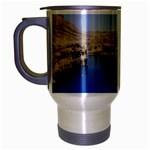 Water And Desert Band Eamir Afghanistan Travel Mug (Silver Gray)