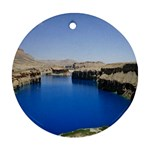 Water And Desert Band Eamir Afghanistan Round Ornament (Two Sides)