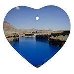 Water And Desert Band Eamir Afghanistan Heart Ornament (Two Sides)