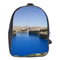 Water And Desert Band Eamir Afghanistan School Bag (Large) from DesignYourOwnGift.com Front