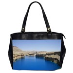 Water And Desert Band Eamir Afghanistan Oversize Office Handbag (Two Sides)