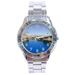 Water And Desert Band Eamir Afghanistan Stainless Steel Analogue Men's Watch