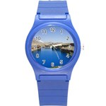 Water And Desert Band Eamir Afghanistan Round Plastic Sport Watch Small