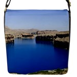 Water And Desert Band Eamir Afghanistan Flap closure messenger bag (Small)