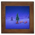 Walking Christmas Tree In Holiday Framed Tile