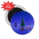 Walking Christmas Tree In Holiday 2.25  Magnet (10 pack)
