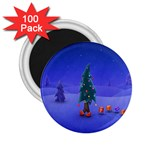 Walking Christmas Tree In Holiday 2.25  Magnet (100 pack)