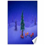 Walking Christmas Tree In Holiday Canvas 12  x 18