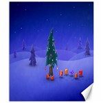 Walking Christmas Tree In Holiday Canvas 20  x 24