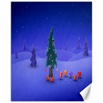 Walking Christmas Tree In Holiday Canvas 11  x 14