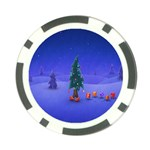 Walking Christmas Tree In Holiday Poker Chip Card Guard (10 pack)