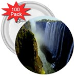 Victoria Falls Zambia 3  Button (100 pack)