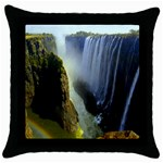 Victoria Falls Zambia Throw Pillow Case (Black)