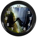 Victoria Falls Zambia Wall Clock (Black)