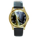Victoria Falls Zambia Round Gold Metal Watch