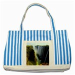 Victoria Falls Zambia Striped Blue Tote Bag