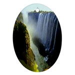 Victoria Falls Zambia Oval Ornament (Two Sides)