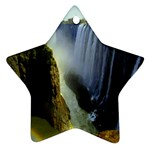 Victoria Falls Zambia Star Ornament (Two Sides)