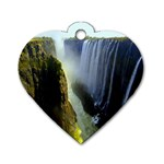 Victoria Falls Zambia Dog Tag Heart (One Side)